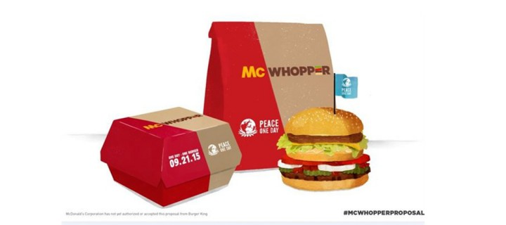 Burger King propone a McDonald's las paces